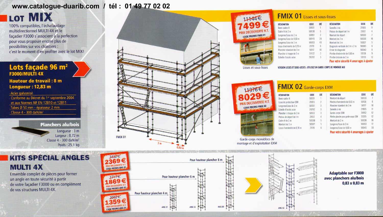 p2 des multi 4x les plateformes individuelles de s curit aux normes pour chantiers ainsi que. Black Bedroom Furniture Sets. Home Design Ideas