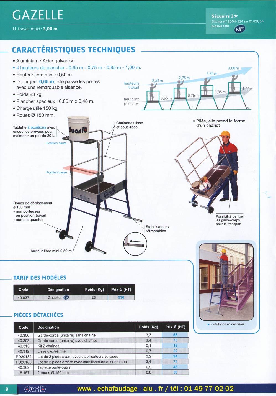 page n 11 et 12 du catalogue duarib des plates formes. Black Bedroom Furniture Sets. Home Design Ideas